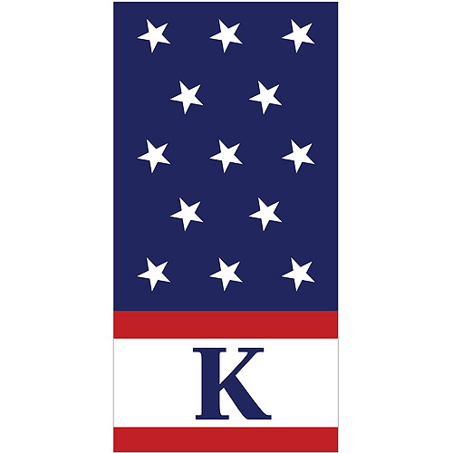 Personalized Red, White and Blue Personalized Towel