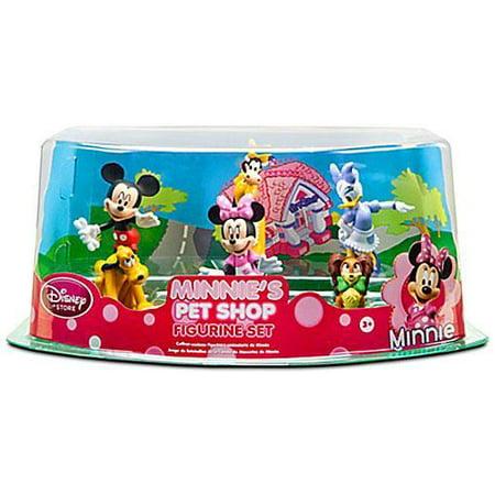 Disney Mickey Mouse Minnie's Pet Shop Figurine Set