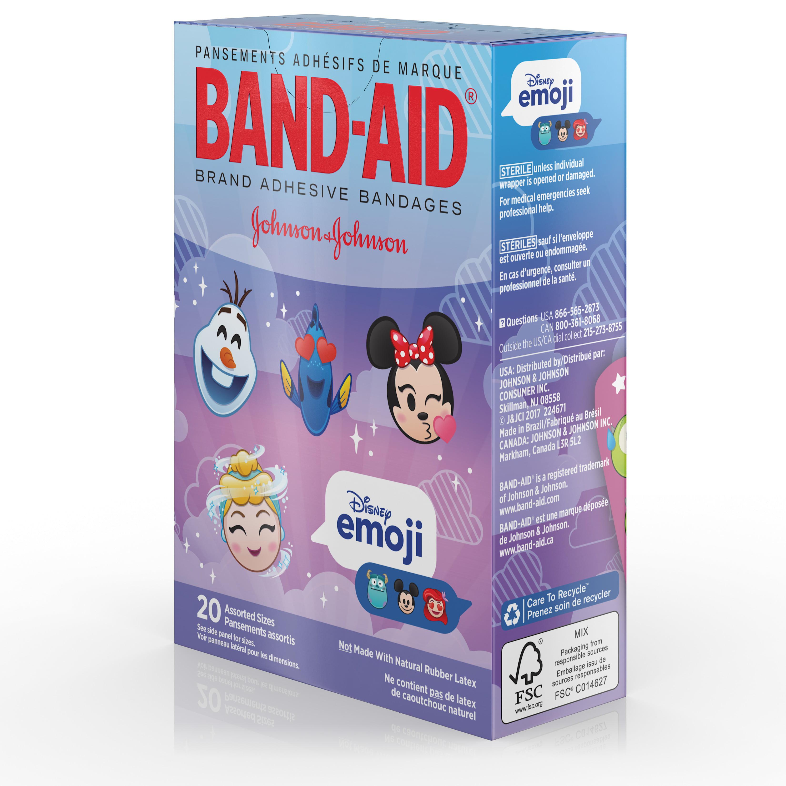 band aid adhesive bandages disney emoji characters assorted sizes