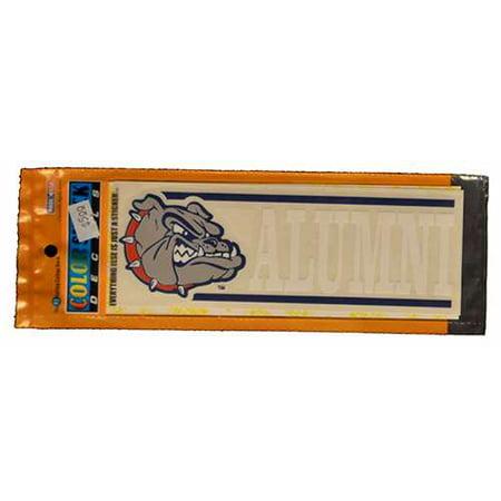Gonzaga Bulldogs Decal - Mascot Logo W/ Alumni - Bulldog Mascot