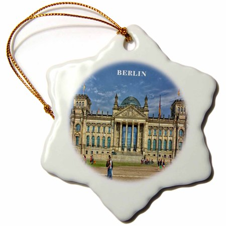Berlin Government Buildings - 3dRose Lovely Architecture Berlin Government Building Germany - Snowflake Ornament, 3-inch