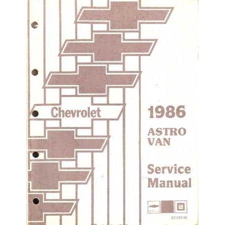 Bishko OEM Repair Maintenance Shop Manual Bound for Chevy Truck Astro Van 1986