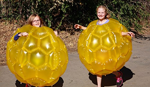 Double Pack Inflatable Outdoor Bumper Ball MMP Living Large Belly Bump Ball 2 Units - Yellow