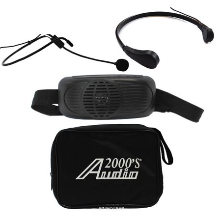 Audio 2000 AWP6202B/TR15 Black Waist-band Battery Powered Amplifier PA System w/Neck -