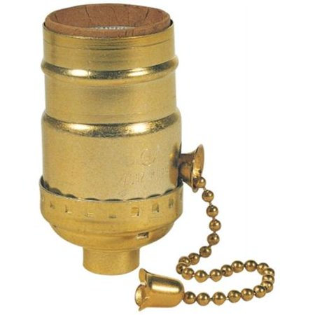 Westinghouse Lighting 7043100 Brass Finish 3-Way Pull Chain