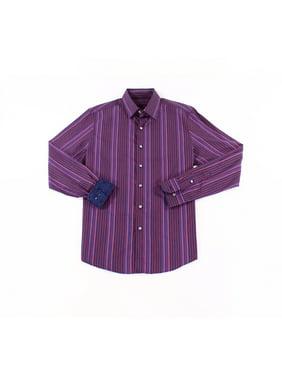 Red 17-17 1/2 Striped Button Down Shirt XL