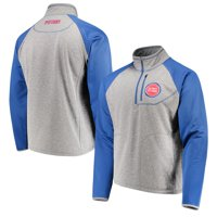 Detroit Pistons G-III Sports by Carl Banks Mountain Trail Half-Zip Pullover Jacket - Gray/Blue