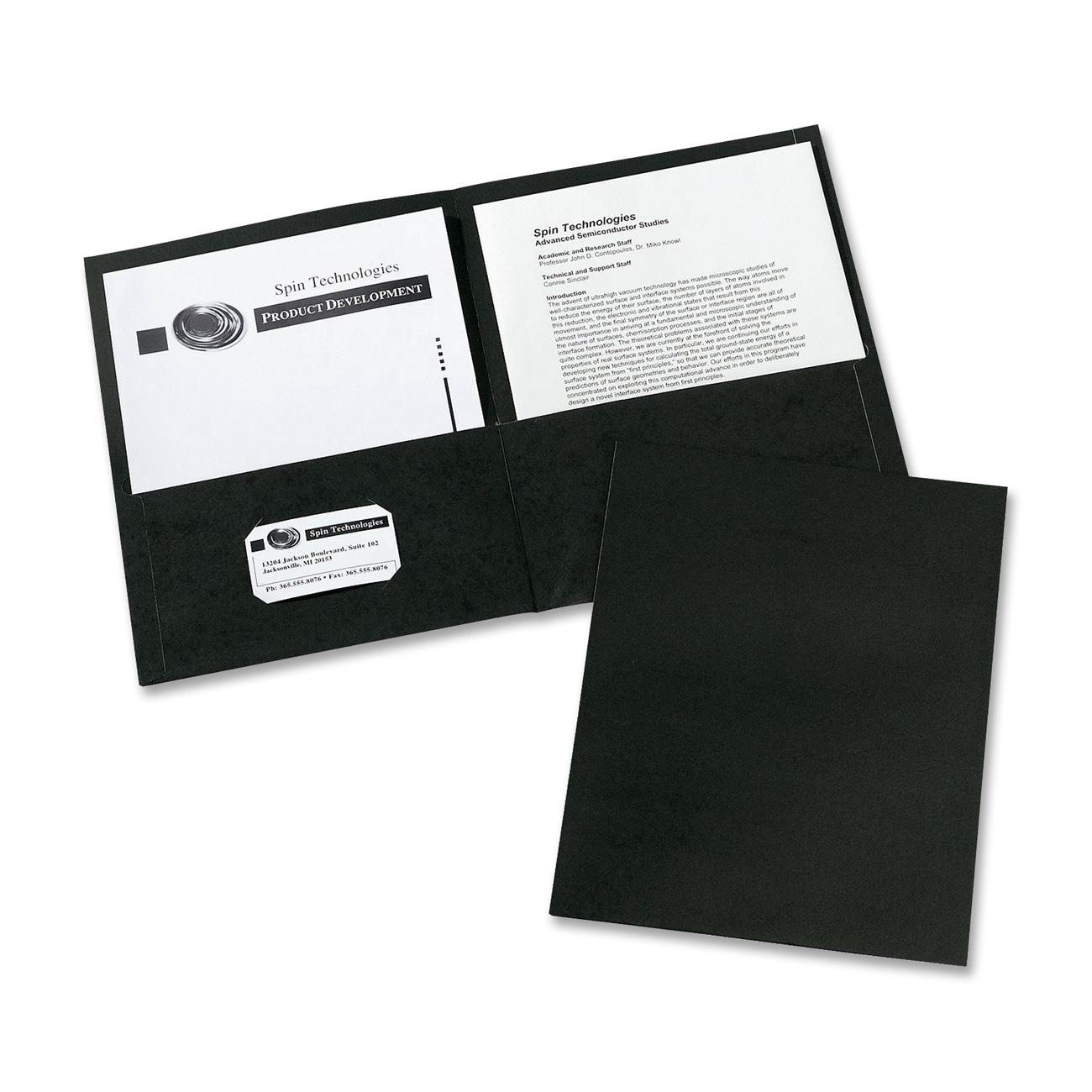 Avery(R) Two-Pocket Folders 47988, Black, Box of 25 by Avery