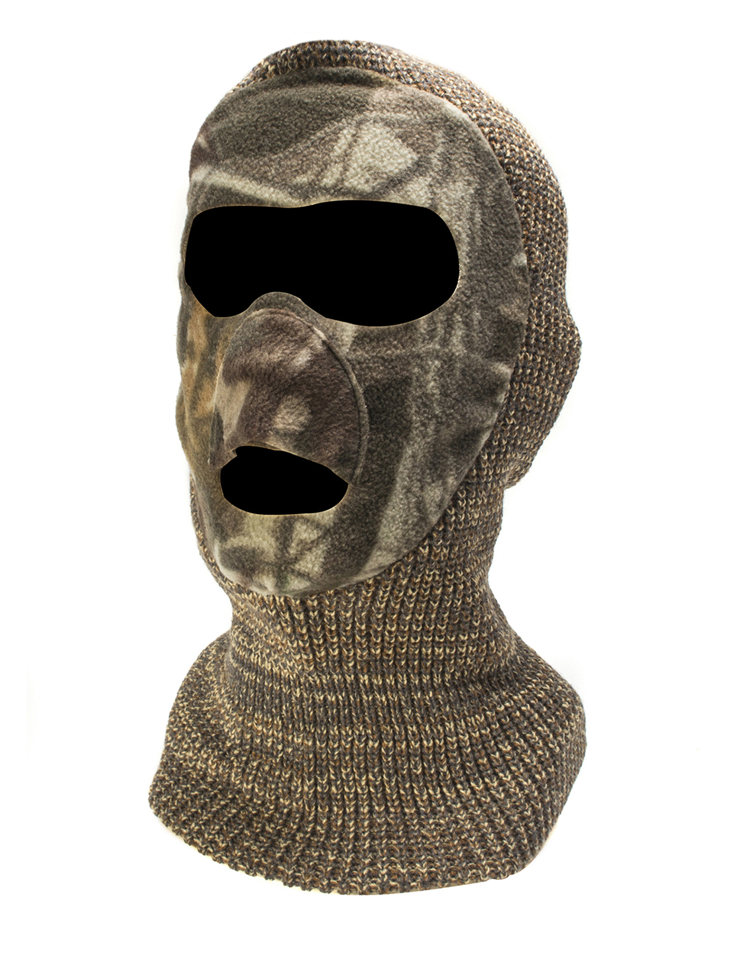 QuietWear Youth Knit and Fleece Patented Mask, Adventure Grey by Reliable Headwear