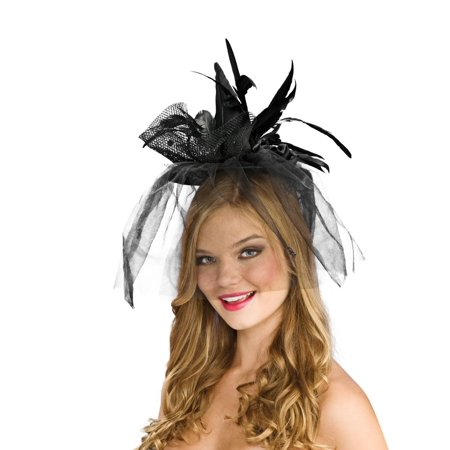 Mini Mesh Witch Black Costume Hat](Mini Mad Hatter Hats For Sale)