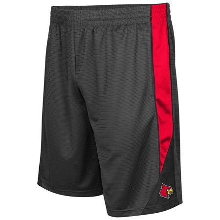 Louisville Cardinals Colosseum Turnover Shorts - Charcoal - Louisville Mens Shorts