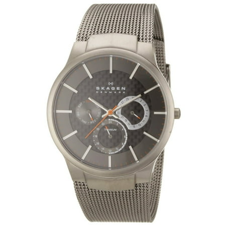 Men's Grey Titanium Multifunction Mesh Watch