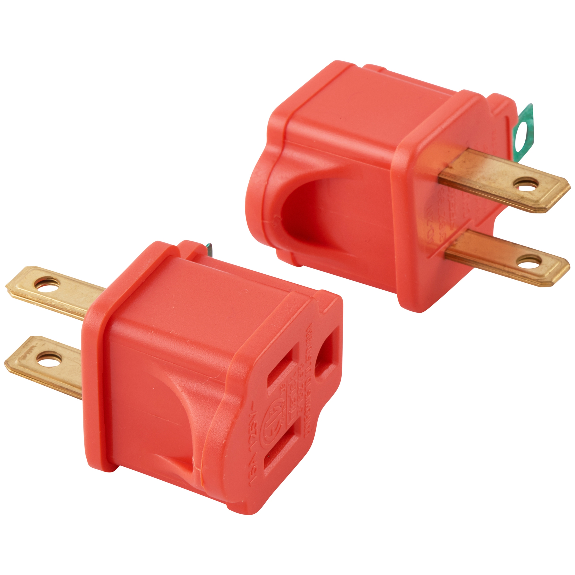 Hyper Tough Polarized Grounded Adapter, 2-Pack