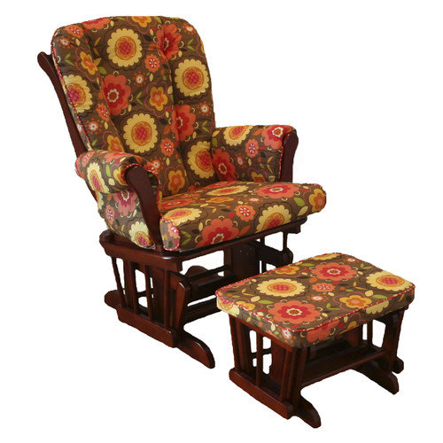 Cotton Tale Peggy Sue Floral Glider with Ottoman