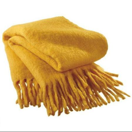 Mustard Yellow Throw Blanket Amazing Deep Mustard Yellow Wool Fringed Afghan Throw Blanket 60 X 60