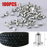 Yosoo Tire Snow Spikes,100pcs 9mm/0.35  Wheel Tyre Stud Screws Snow Tire Spikes for Car Auto SUV ATV,Car Tire Stud