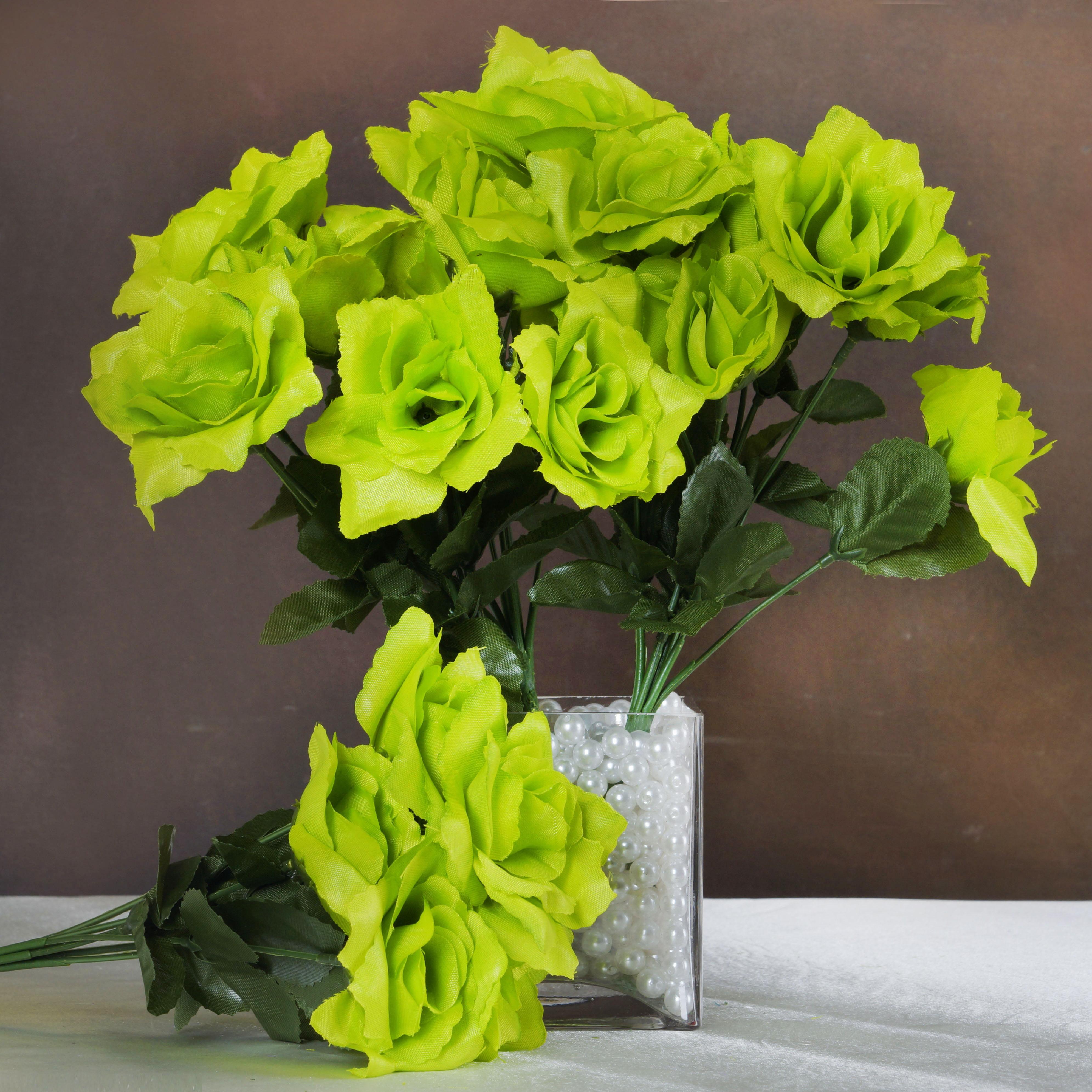 Efavormart 84 Artificial Open Roses for DIY Wedding Bouquets Centerpieces Arrangements Party Home Decorations Wholesale Supplies