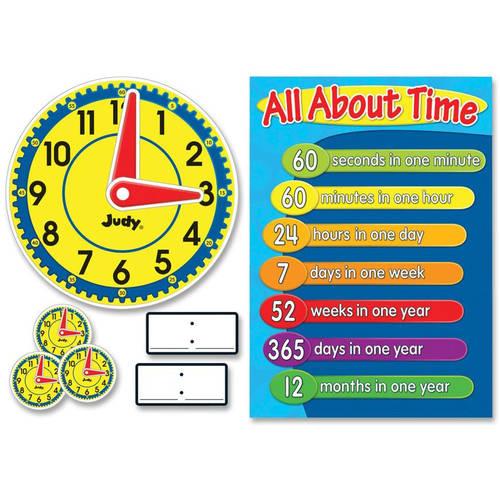 Carson-Dellosa Judy Clock Bulletin Board Set