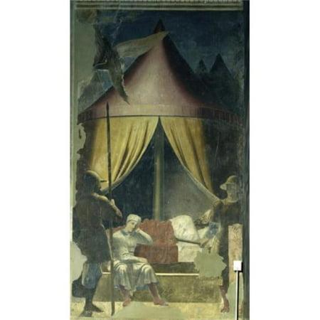 Posterazzi SAL263685 The Dream of Constantine Ca 1455 Piero Della Francesca Ca1415-1492 Italian Fresco San Francesco Arezzo Italy Poster Print - 18 x 24 in. - image 1 of 1
