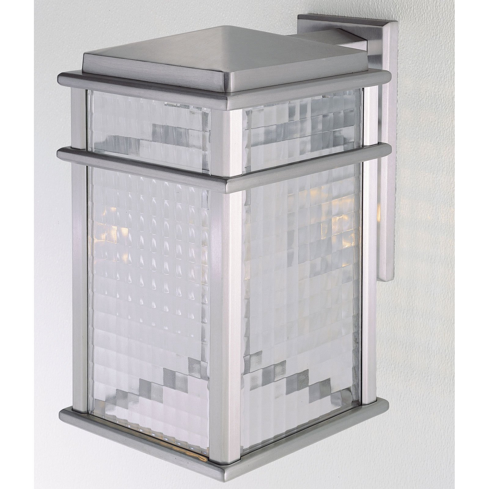 Feiss Monterey Coast Outdoor Wall Lantern - 15H in. Brushed Aluminum