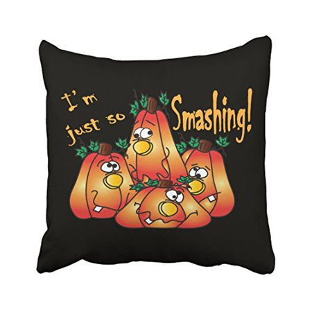 WinHome Decorative Pillowcases Adorable Halloween Smashing Pumpkins Throw Pillow Covers Cases Cushion Cover Case Sofa 18x18 Inches Two Side](Smashing Pumpkins Halloween 2017)