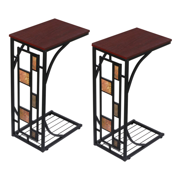 2pcs Couch Sofa Side Table End Table Laptop Desk Couch Stand C Table Living Room Bedroom Walmart Com Walmart Com