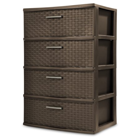 (Sterilite, 4 Drawer Wide Weave Tower)