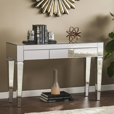 Southern Enterprises Dustox Mirrored Console Table, Mirrored/Silver