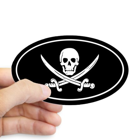 CafePress - Pirate - Sticker (Oval) (Pirate Stickers)