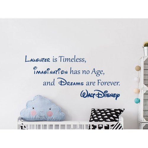 Decal House Quote Mickey Mouse Vinyl Sticker Laughter is Timeless Nursery Wall Decal