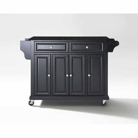 Crosley Furniture Solid Black Granite Top Kitchen Cart ()