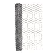 """Expert Gardener Galvanized Steel Gray Chicken Wire, 24"""" x 10' Roll"""