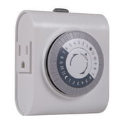 ge 24 hour heavy duty indoor plug in timer 2 outlets - Lamp Timer