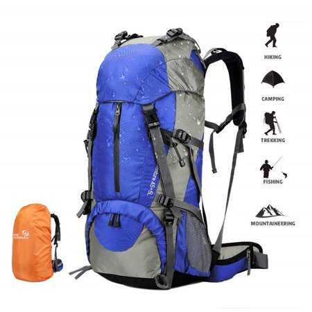 55L+5L Outdoor Mountaineering Hunting Camping Hiking Backpack Bag,Blue thumbnail