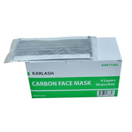Karlash - Filter 50 Layer Disposable Bacteria Mask Antivirus Carbon Four Pieces Charcoal Activated