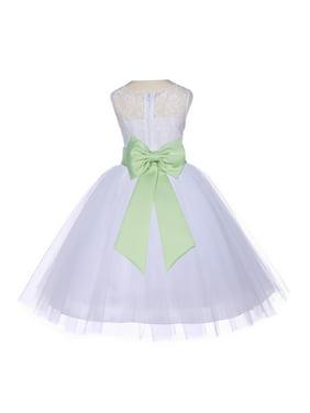 7760284b9 Product Image Ekidsbridal Ivory Lace Bodice Flower Girl Dress Tulle Junior Bridesmaid  Wedding Pageant Toddler Recital Easter Holiday