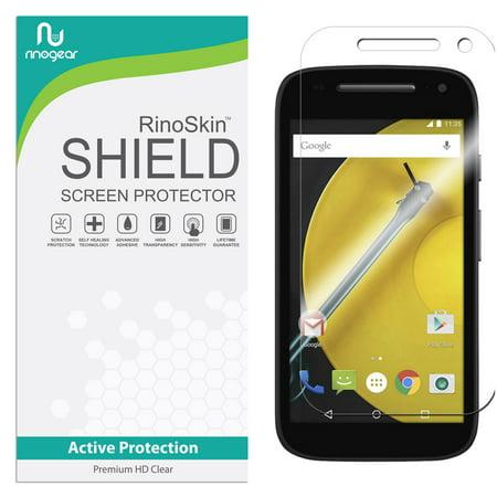 Motorola Moto E (2nd Gen 2015) Screen Protector RinoGear Flexible HD Crystal Clear Anti-Bubble Unlimited Replacement