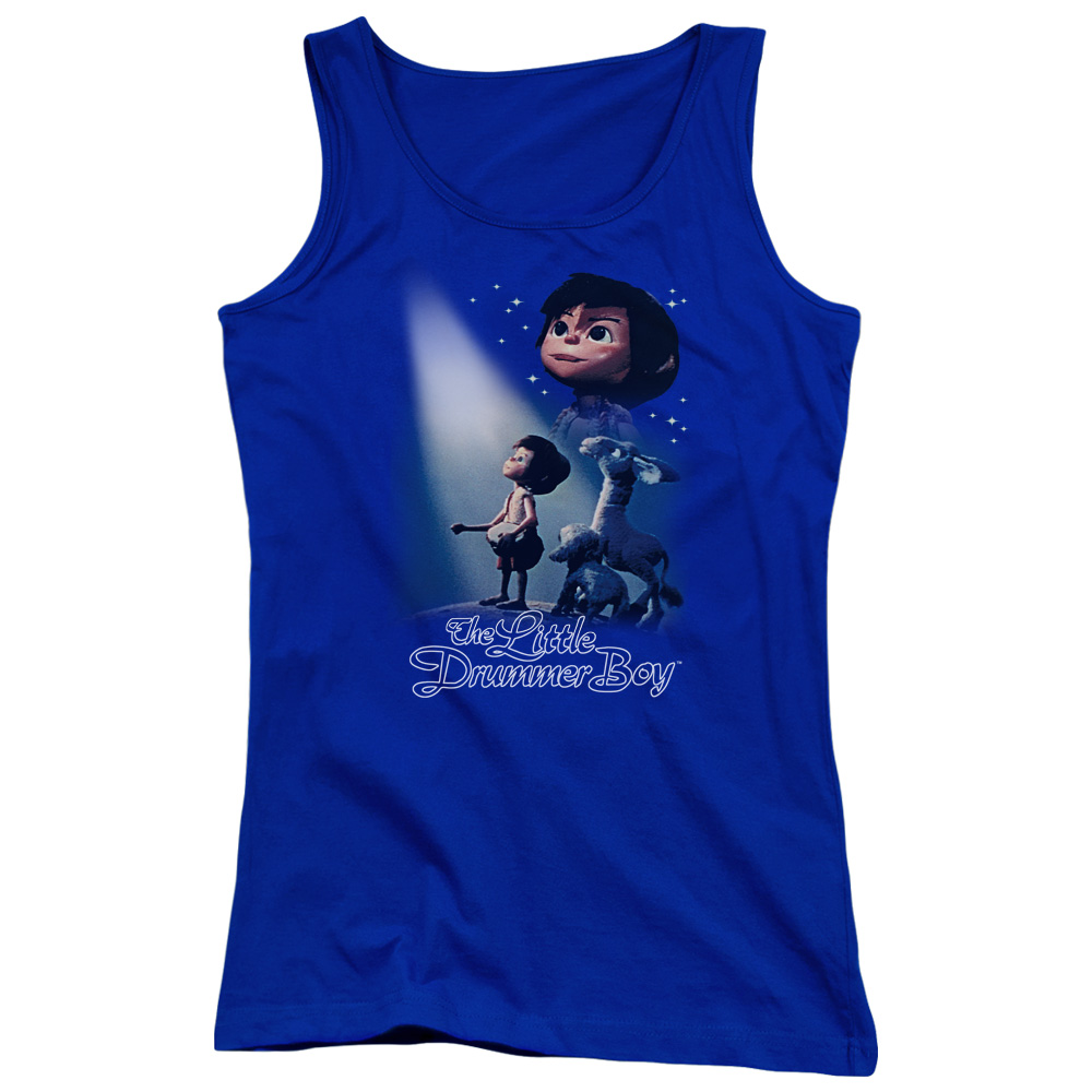The Little Drummer Boy White Light Juniors Tank Top Shirt