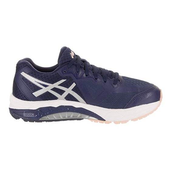 7291b4bd8ea2c ASICS Women's GEL-Foundation 13, Indigo Blue/Silver/Seashell Pink, 8 D(W) US