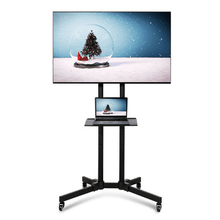 32 to 65 Inch Mobile TV Cart Rolling TV Stand for LED LCD Plasma Flat Panels on Wheels Samsung Plasma Tv Stands