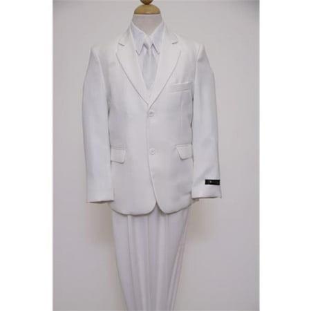 Stitch 3 Button Suits - Mens Suits  2 Button Front Closure Interior Pick Stitching Boys Suits  White - 4