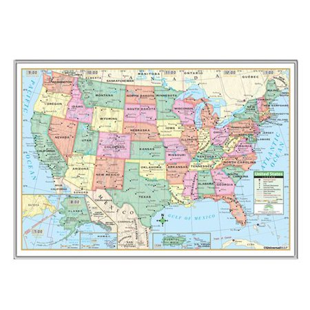 - Universal Map United States Primary Mounted Framed Wall Map