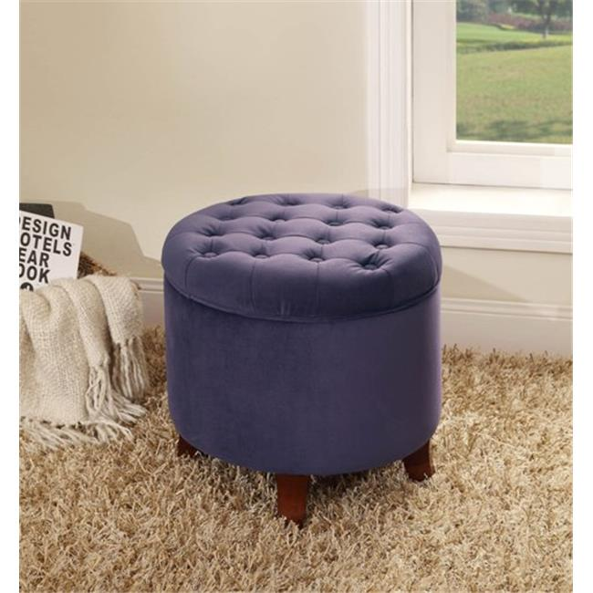 Kinfine K6171-B204 Large Round Storage Ottoman by