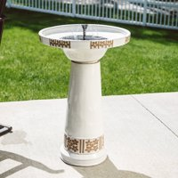 Belham Living Solar Ceramic Bird Bath by Smart Solar