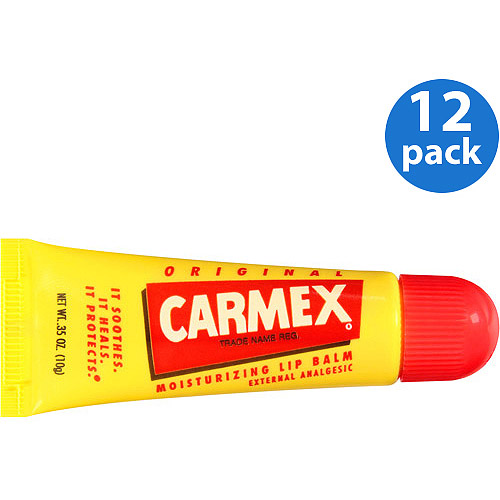 Carmex Original Moisturizing External Analgesic Lip Balm, 0.35 oz. (Pack of 12)