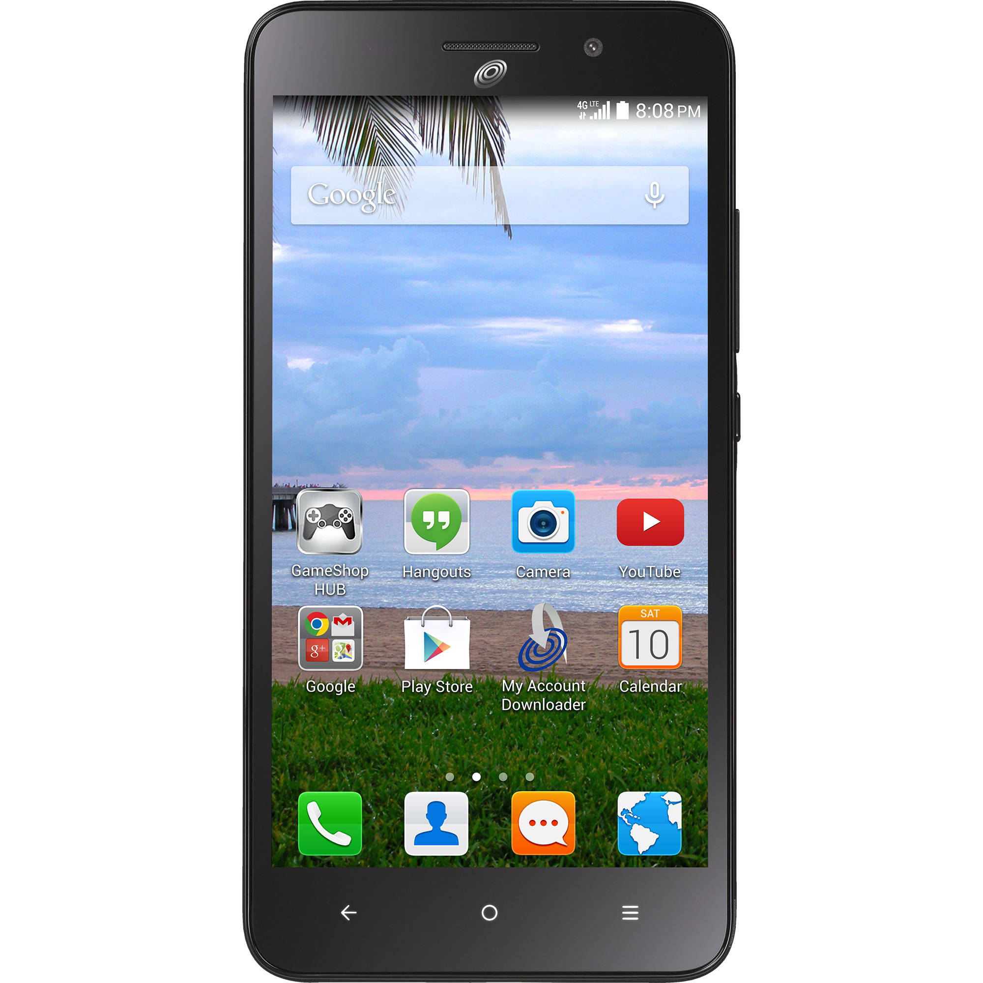 Refurbished Straight Talk Huawei Raven 4G LTE Prepaid Smartphone, Includes a $45/30 Day Plan