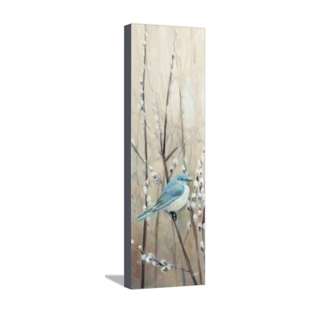 Pretty Birds Neutral II Stretched Canvas Print Wall Art By Julia Purinton