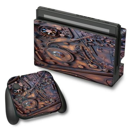 Skin Decal For Nintendo Switch Vinyl Wrap   Steampunk Metal Panel Vault Fan Gear