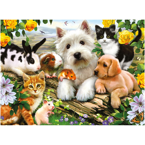 Ravensburger Happy Animal Buddies Puzzle, 300 Pieces