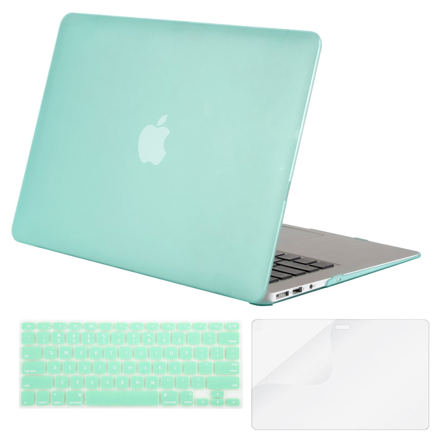 Laptop 13 Inch Case Small Swimming Colorful Fishes Plastic Hard Shell Compatible Mac A1466 MacBook Air Case Protection Accessories for MacBook with Mouse Pad